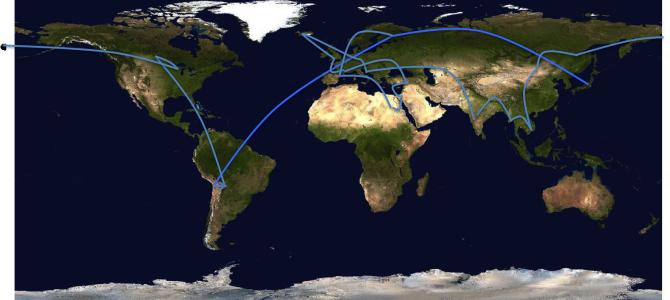 世界一周ルート完成!? この20カ国に行ってきます!